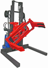Electric Stacker Trucks With Clamp Attachments