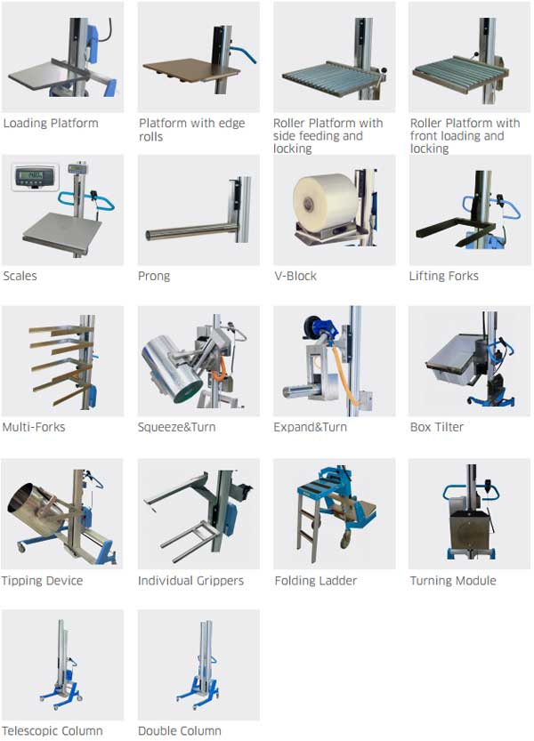 Lift Safe Stainless Steel Work Positioners Accessories