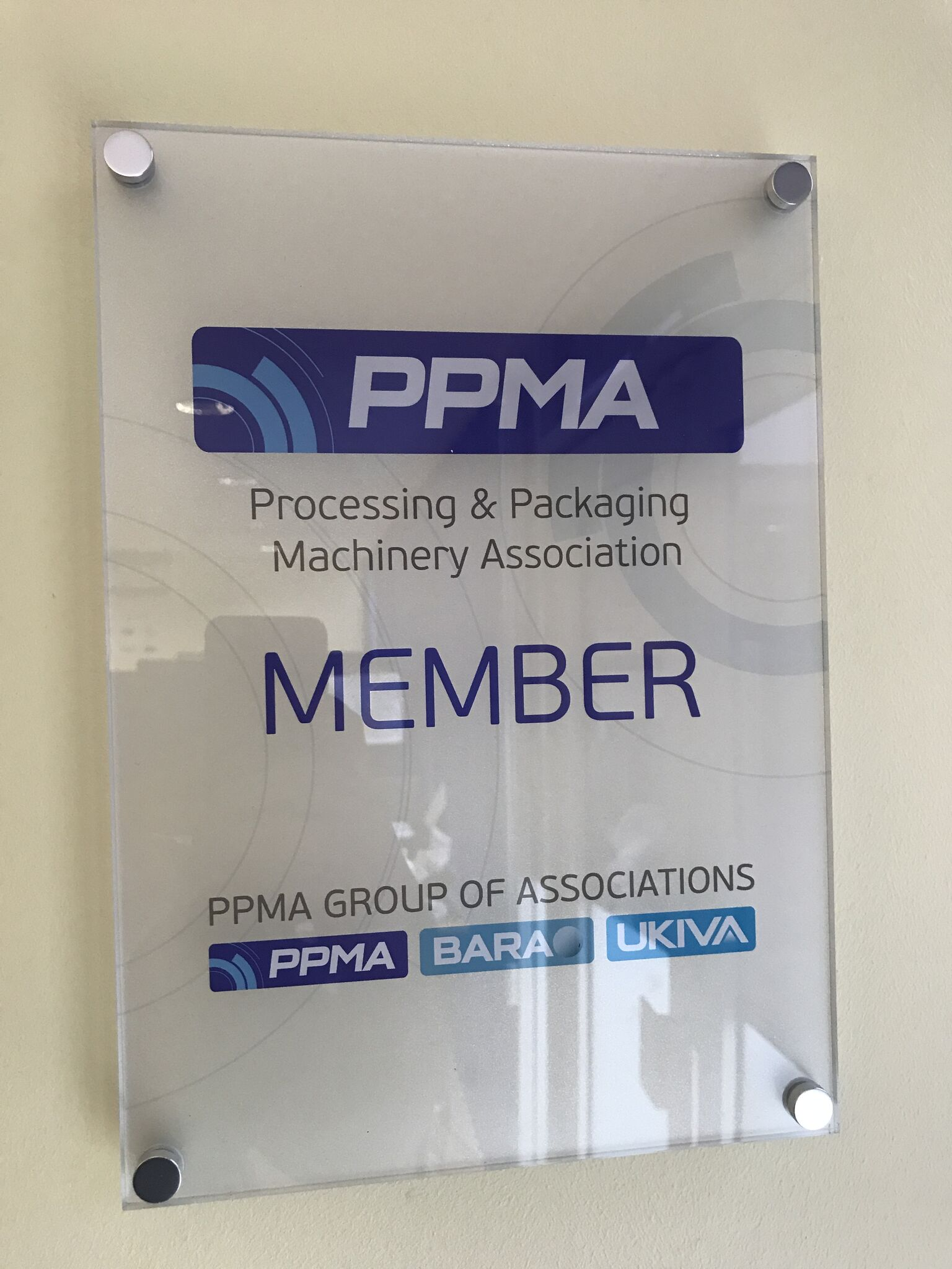 Lift Safe Are Proud To Be Members Of The PPMA (Processing & Packaging Machinery Association)