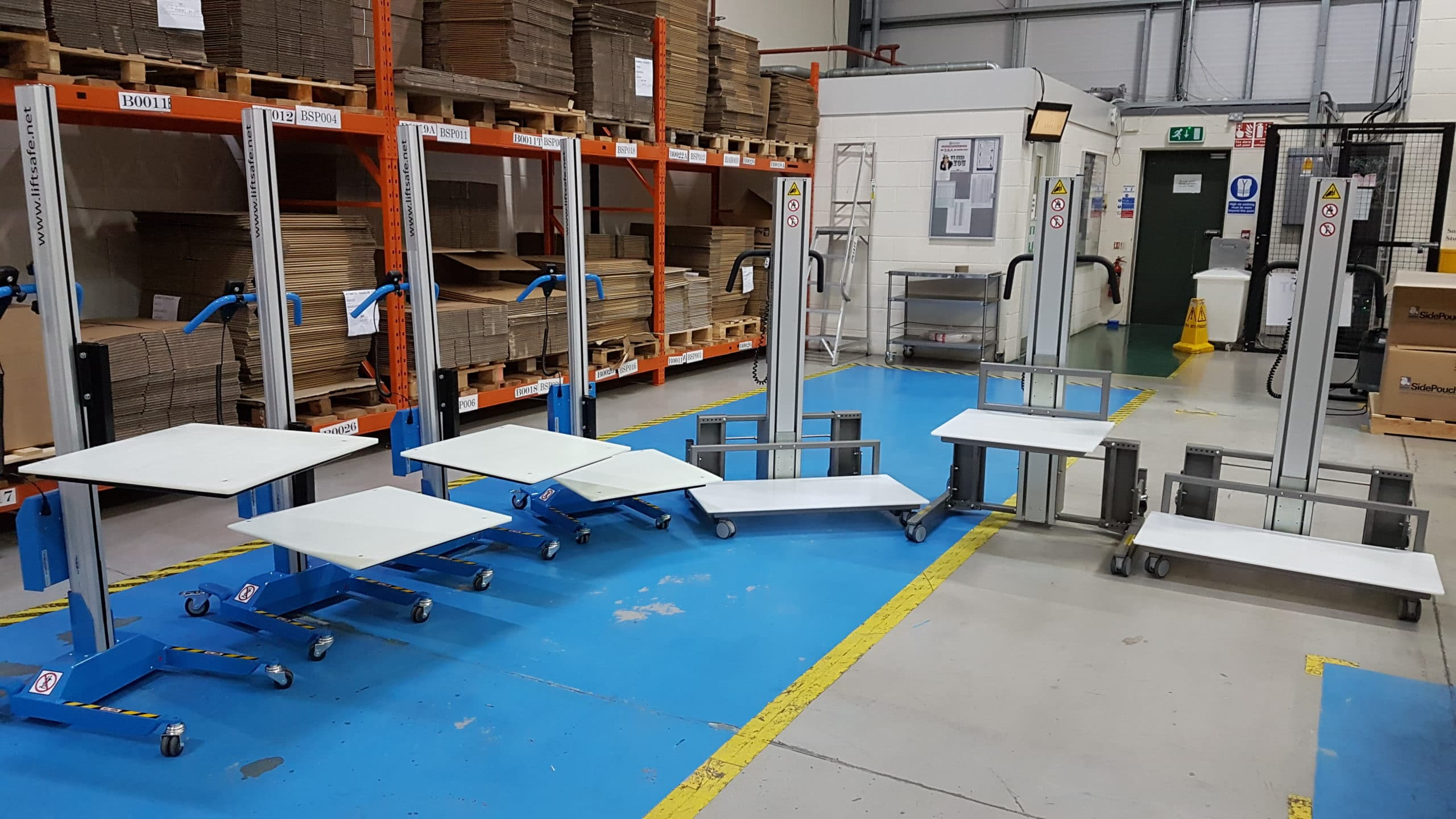 7 Box Lifters Supplied To Southern Based Packaging Machinery Company