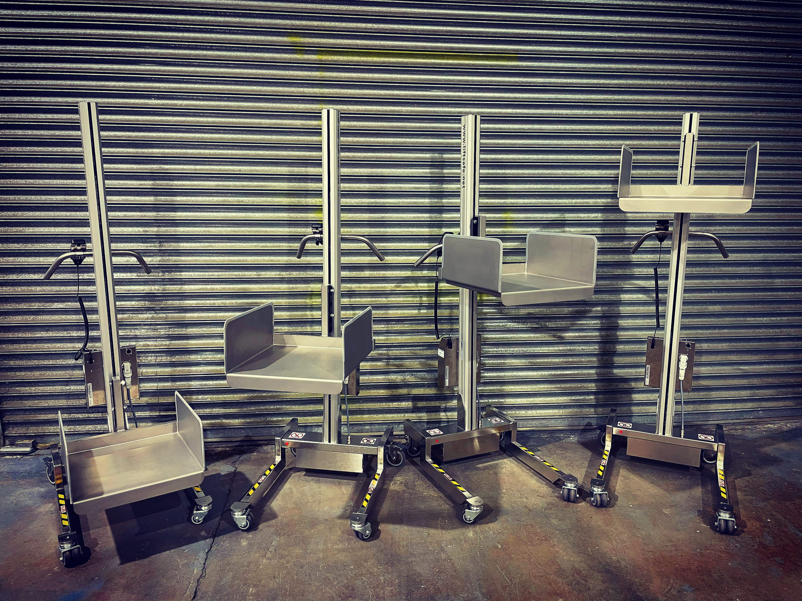 NHS Trust Site In South East Take Delivery of 4 Stainless Steel Lifters